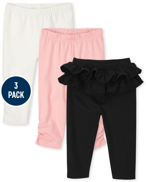 Baby Girls Knit Pants 3-Pack
