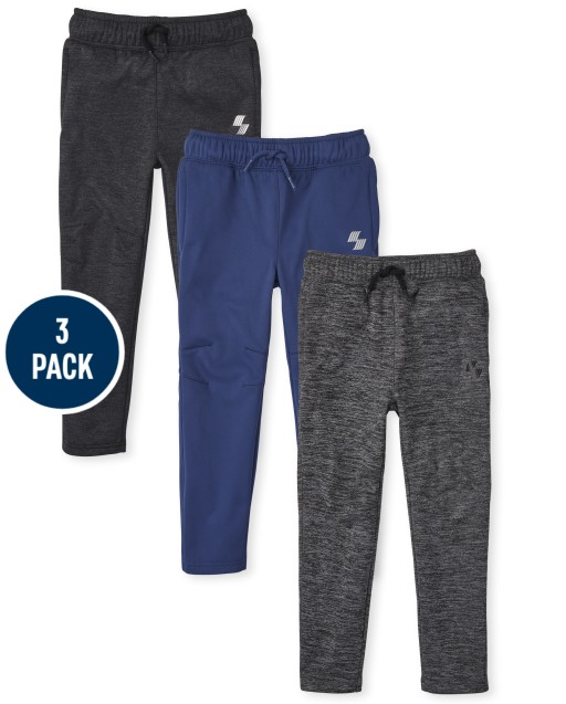 Boys PLACE Sport Knit Performance Pants 3-Pack