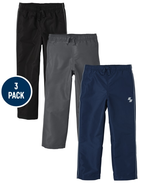 Boys PLACE Sport Woven Wind Pants 3-Pack