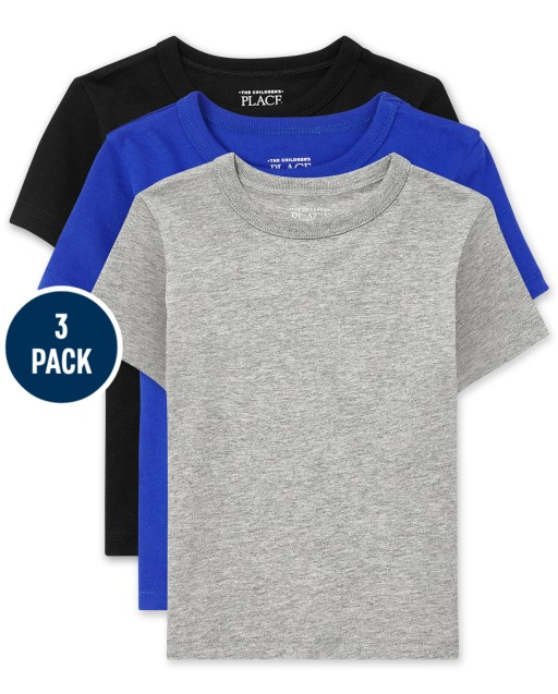 Baby And Toddler Boys Short Sleeve Basic Layering Tee 3-Pack