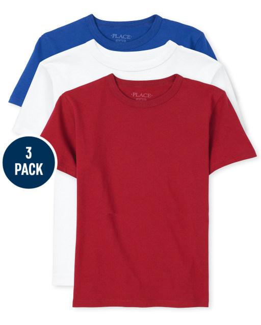 Boys Short Sleeve Basic Layering Tee 3-Pack