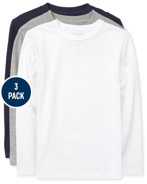 Pack de 3 camisetas sólidas para niños