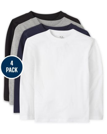 Baby And Toddler Boys Uniform Basic Layering Tee 4-Pack