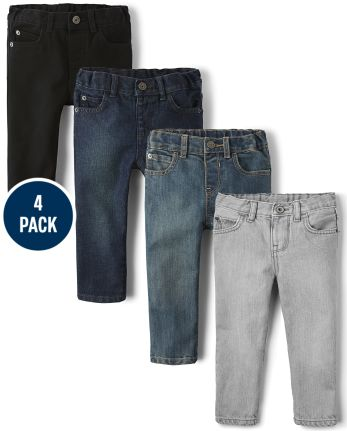 Baby And Toddler Boys Basic Skinny Jeans 4-Pack