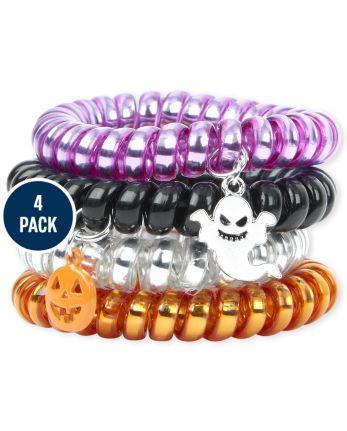 Girls Halloween Coil Bracelet 4-Pack