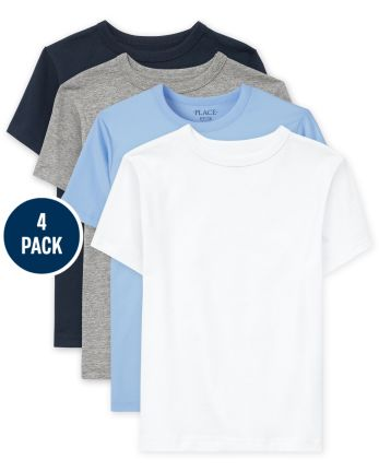 Boys Uniform Basic Layering Tee 4-Pack