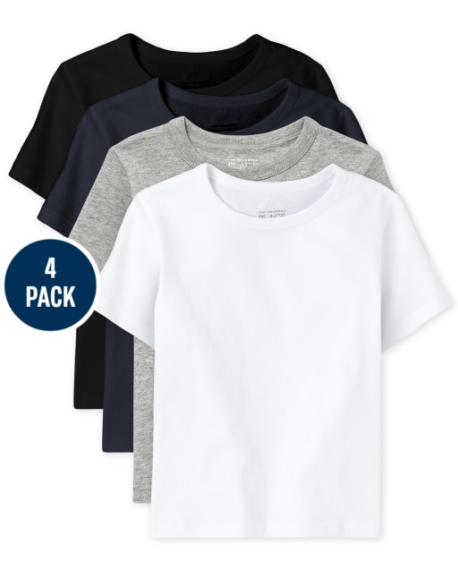 Baby And Toddler Boys Short Sleeve Top 4-Pack