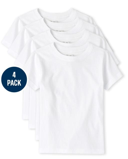 Boys Short Sleeve Undershirt 4-Pack