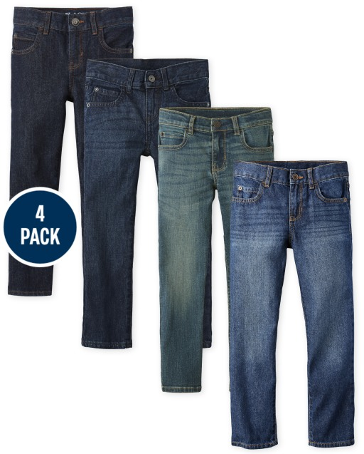 Boys Straight Jeans 4-Pack