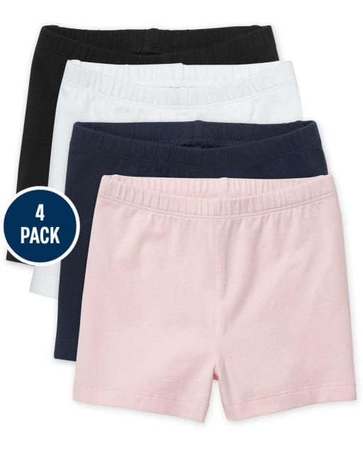 Toddler Girls Knit Cartwheel Shorts 4-Pack
