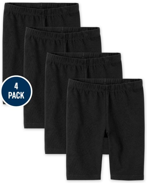 Girls Mix And Match Knit Bike Shorts 4-Pack