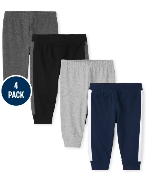 Baby Boys Knit Pants 4-Pack