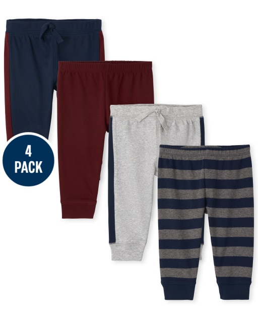 Baby Boys Striped Knit Pants 4-Pack
