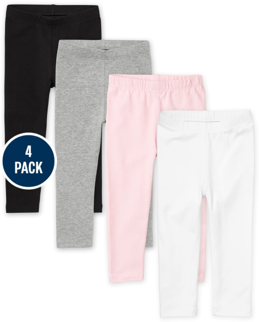 Baby And Toddler Girls Knit Leggings 4-Pack