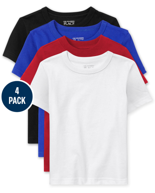 Baby And Toddler Boys Short Sleeve Basic Layering Tee 4-Pack