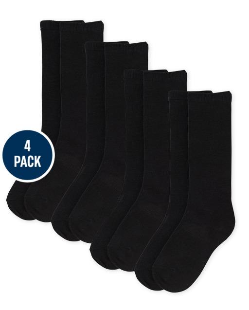 Pack de 4 calcetines hasta la rodilla para niñas