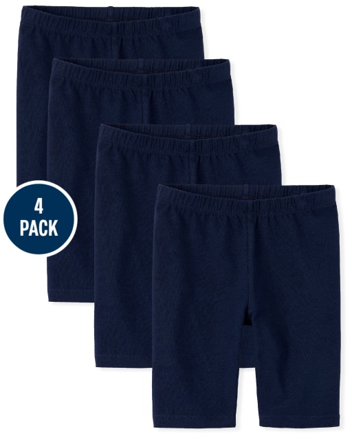 Pack de 4 pantalones cortos de ciclismo de punto Mix And Match para niñas