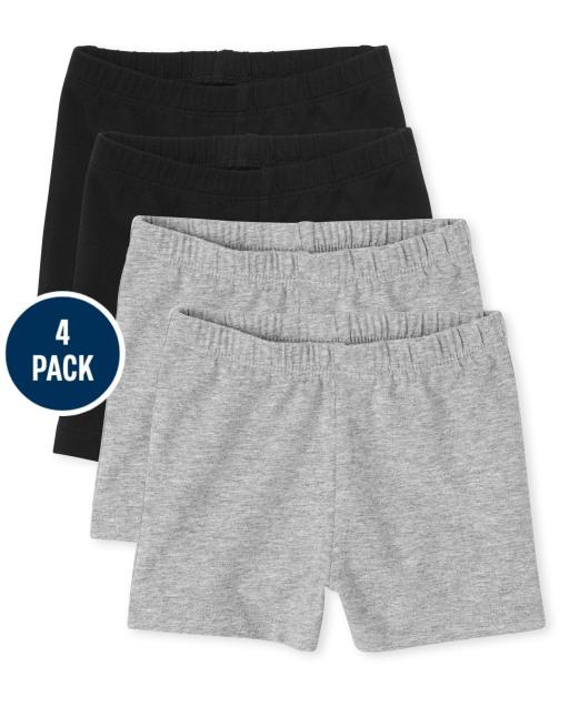 Paquete de 4 pantalones cortos Cartwheel para niñas pequeñas