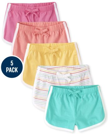 Baby Girls Dolphin Shorts 5-Pack