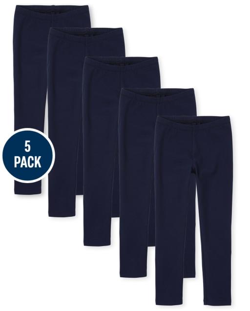 Girls Knit Leggings 5-Pack