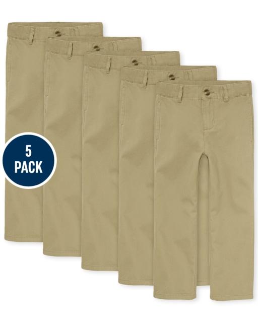 Boys Uniform Woven Chino Pants 5-Pack