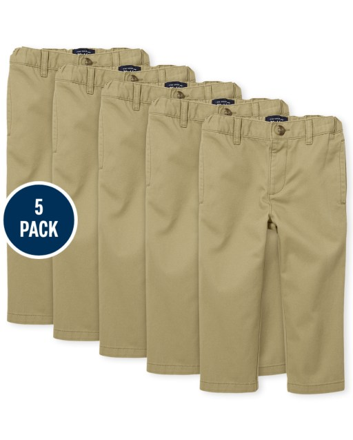 Baby And Toddler Boys Woven Chino Pants 5-Pack