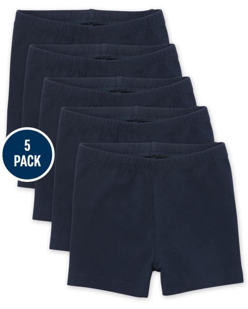 Toddler Girls Knit Cartwheel Shorts 5-Pack