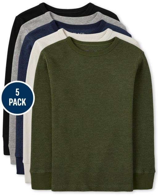 Boys Long Sleeve Thermal Top 5-Pack