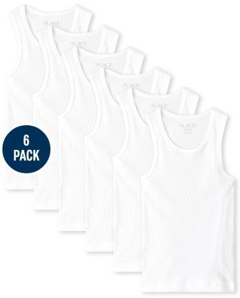 Boys Basic Tank Top 6-Pack