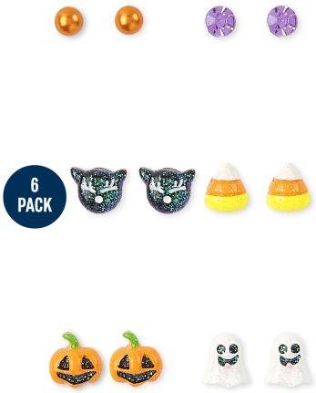 Girls Halloween Earrings 6-Pack