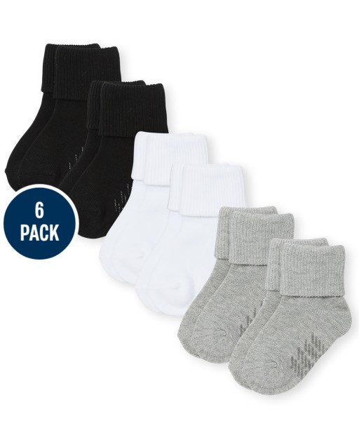 Unisex Baby And Toddler Triple Roll Socks 6-Pack