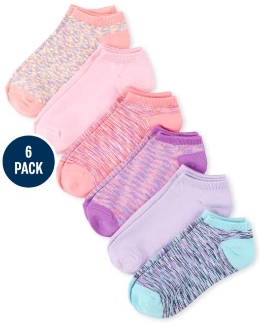Girls Super Soft Ankle Socks 6-Pack