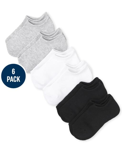 Calcetines bajos unisex para niños, paquete de 6