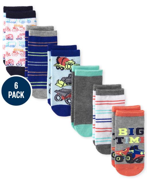 Toddler Boys Truck Ankle Socks 6-Pack