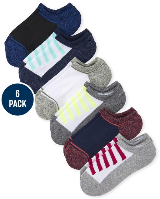 Boys Colorblock Cushioned Low Cut Socks