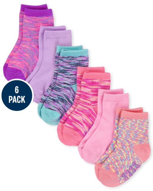 Paquete de 6 pares de calcetines midi super suaves marled para niñas pequeñas