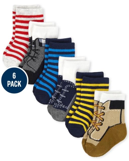 Baby Boys Boot Midi Socks 6-Pack
