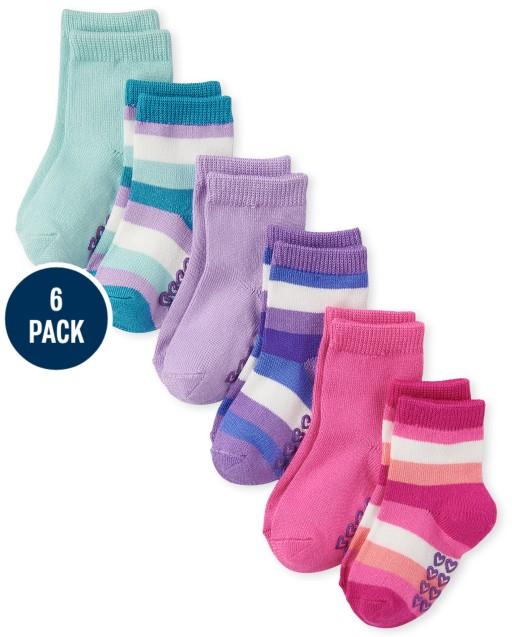 Toddler Girls Striped Midi Socks 6-Pack