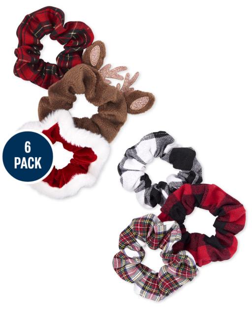 Girls Christmas Scrunchie 6-Pack