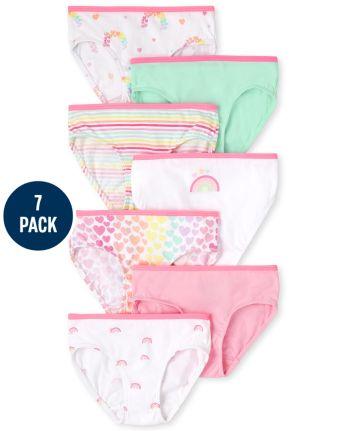 Toddler Girls Rainbow Briefs 7-Pack
