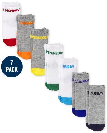 Unisex Toddler Days Of The Week Midi Socks 7-Pack