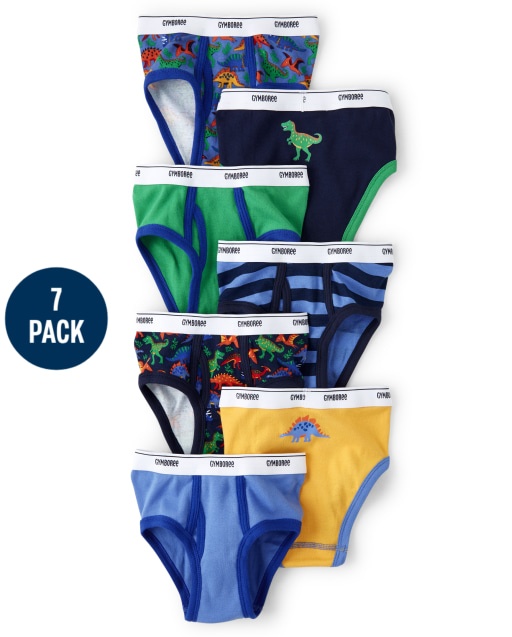 Boys Dino Briefs 7-Pack