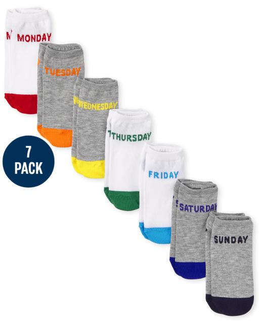Unisex Kids Days Of The Week Ankle Socks 7-Pack