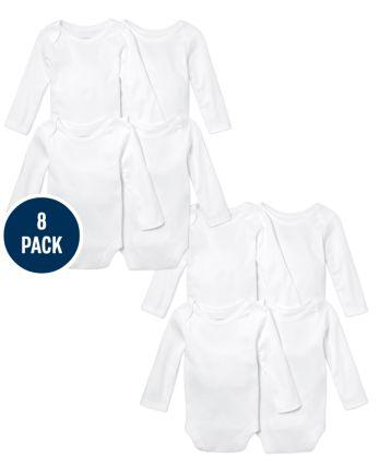 Unisex Baby Bodysuit 8-Pack