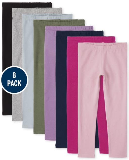 Girls Knit Leggings 8-Pack