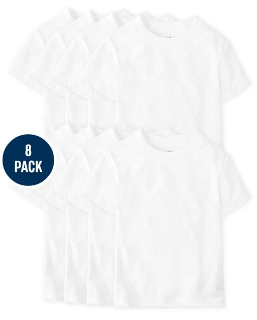 Boys Short Sleeve Undershirt 8-Pack