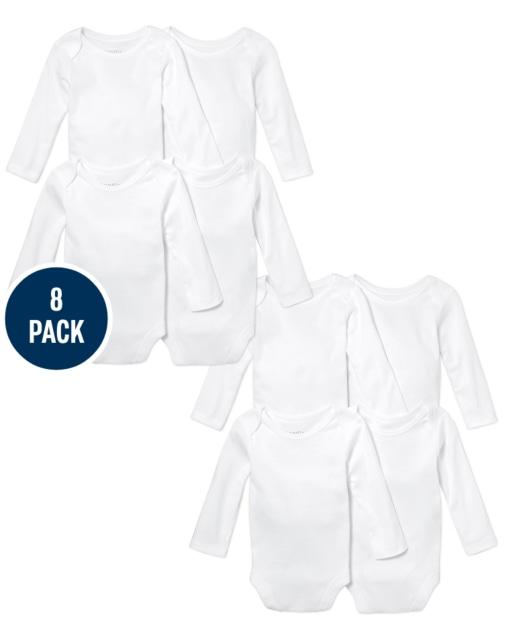 Unisex Baby Long Sleeve Bodysuit 8-Pack