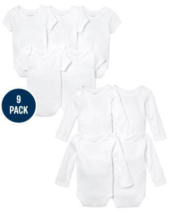 Unisex Baby Bodysuit 9-Pack
