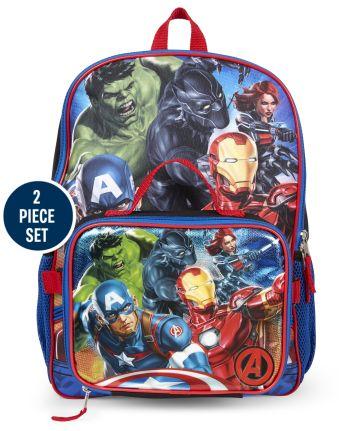 Set de mochila y fiambrera de los Vengadores para niños