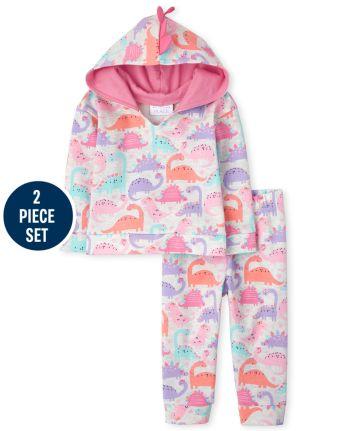 Toddler Girls Active Dino 2-Piece Set